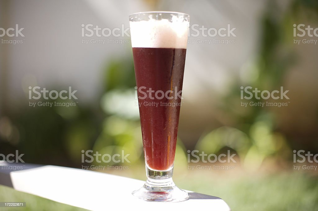 Ice Cold Raspberry flavor Beer royalty-free stock photo