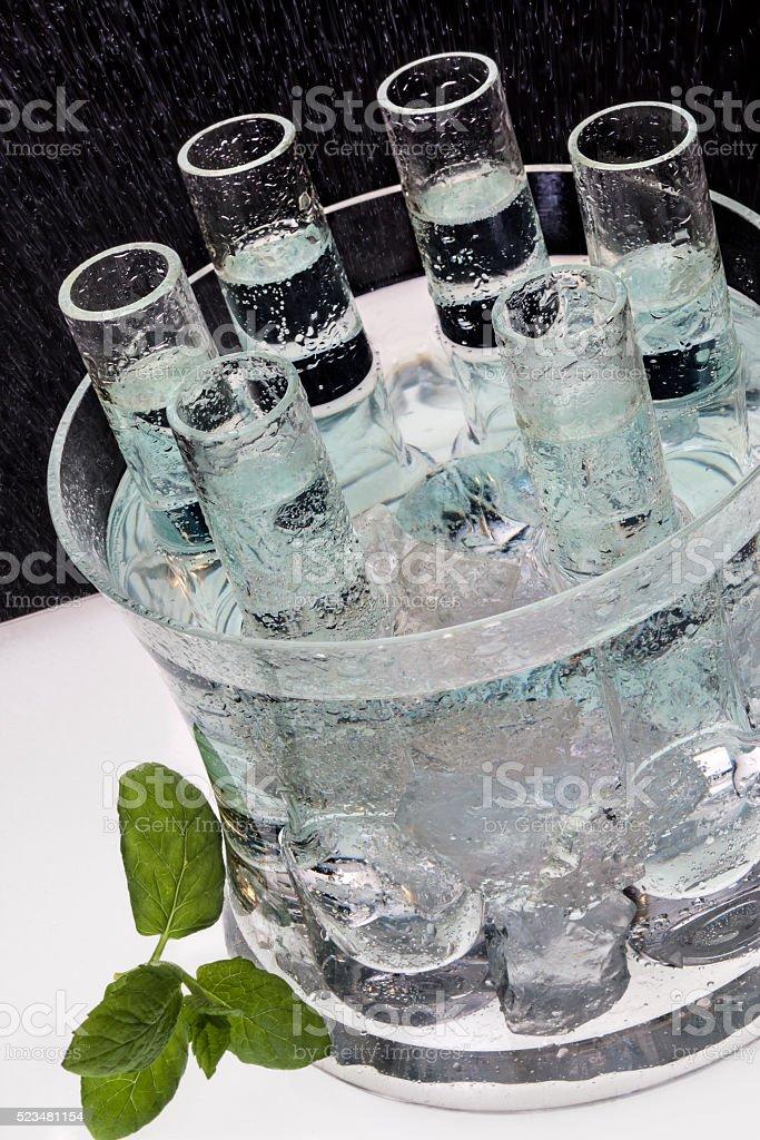 Ice Cold Vodka stock photo