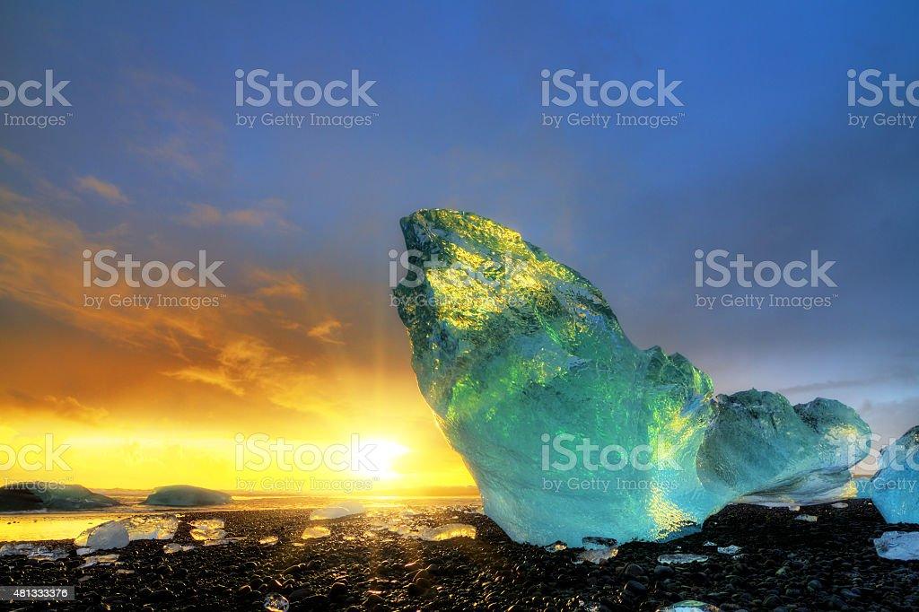 Ice colors Iceland stock photo