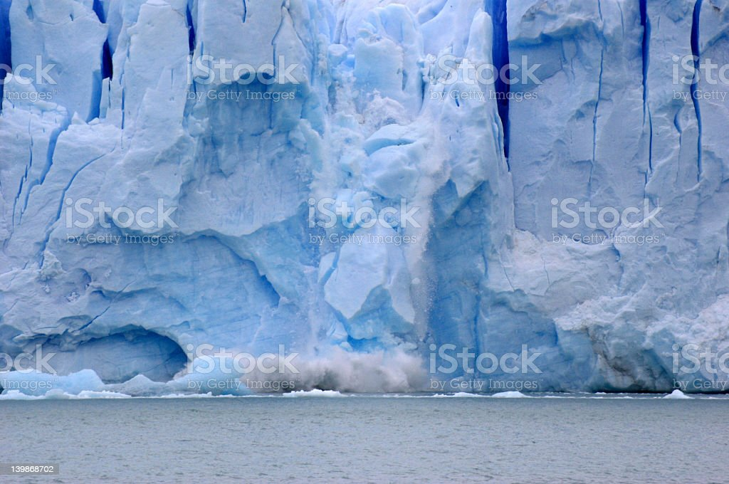 ice coming down a glacier climate royalty-free stock photo