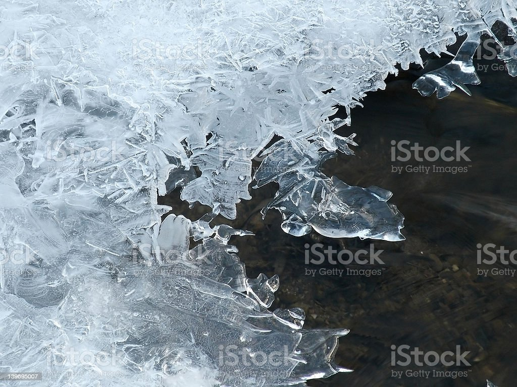 Ice cover over the lake royalty-free stock photo