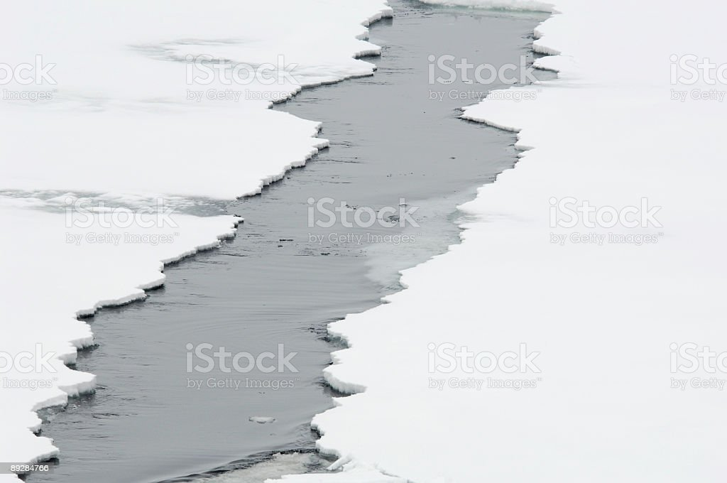 Ice crack stock photo