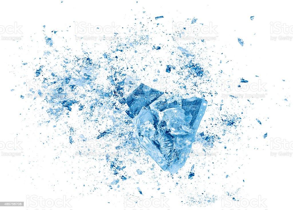 Explosão de colisão partes em fundo branco - Foto de stock de 2015 royalty-free
