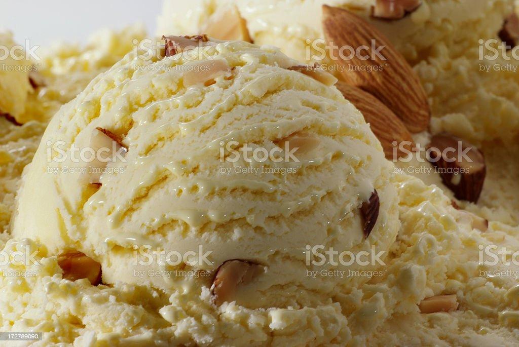 Ice cream ball Macro 3 stock photo