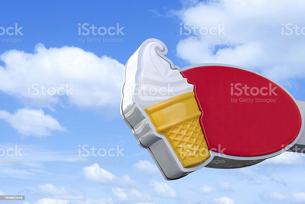 Ice cream billboard royalty-free stock photo