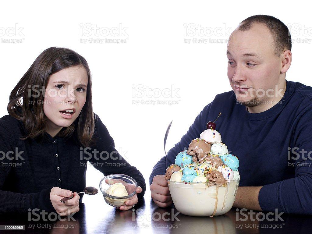 Ice Cream Bragging Rights stock photo