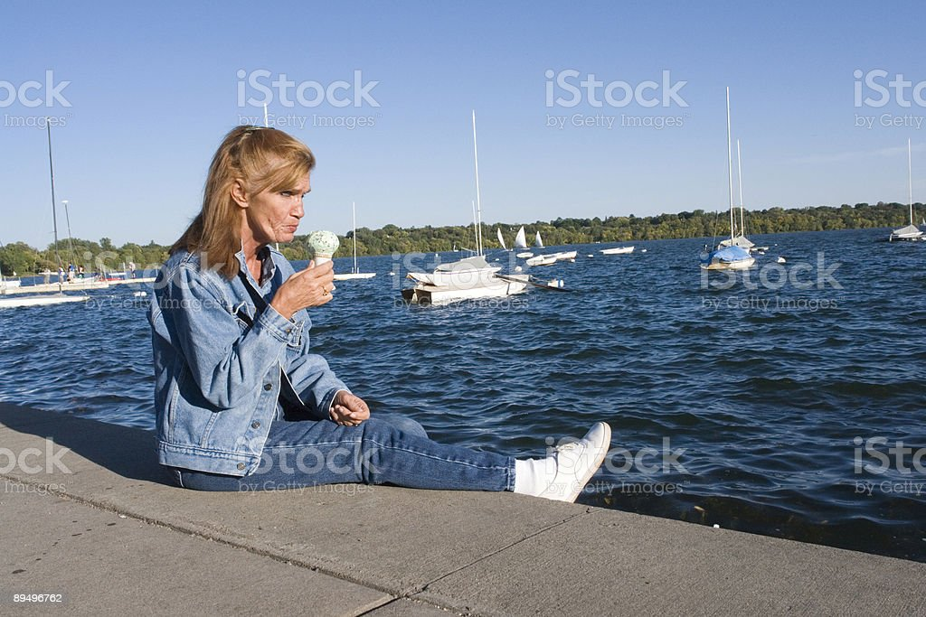 Ice cream by the water royalty-free stock photo