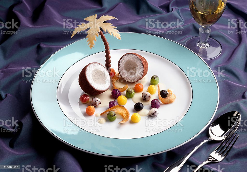 Ice Cream Coconut Dessert stock photo
