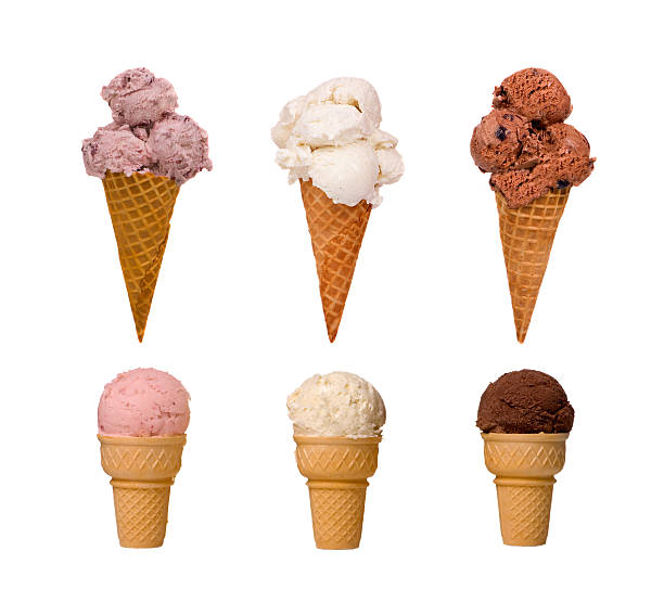Ice Cream cones stock photo