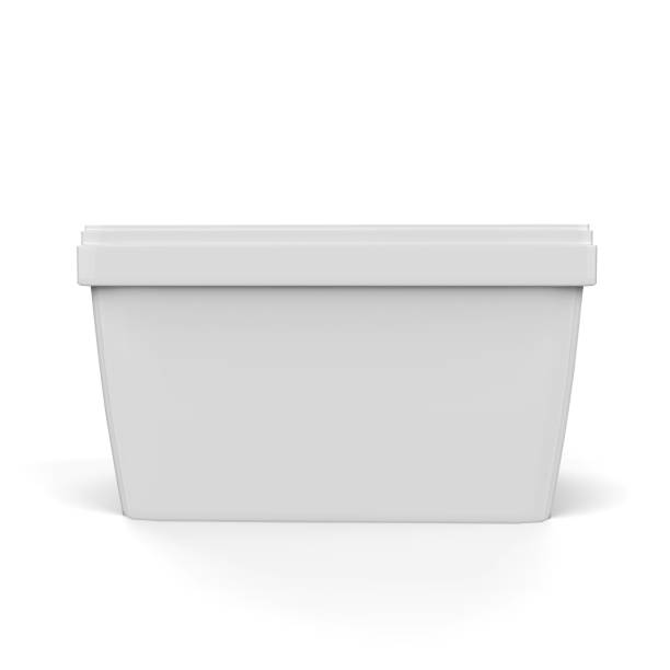 Ice Cream Container Mock-Up stock photo