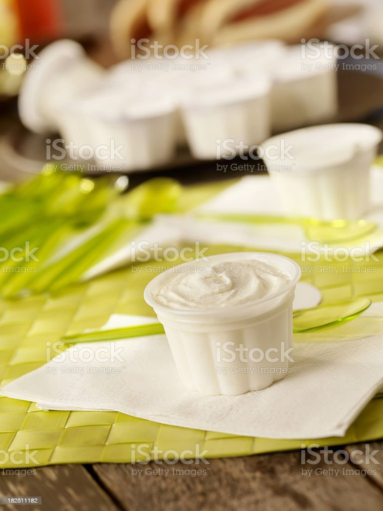 Ice Cream Cups at a Picnic royalty-free stock photo
