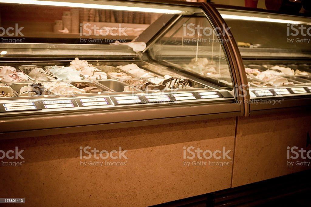 Ice Cream Display royalty-free stock photo