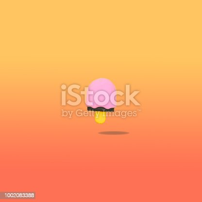 964258970 istock photo ice cream flys in the air with bold shadow 1002083388