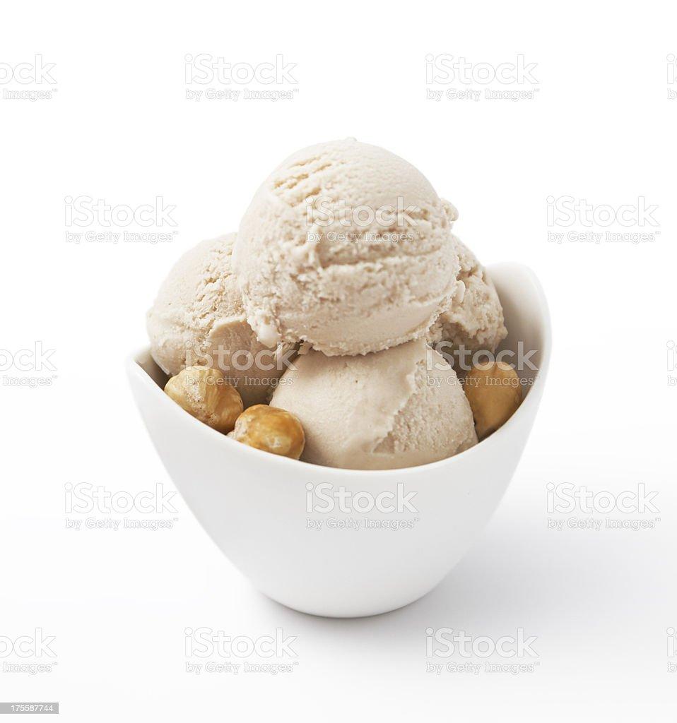 Ice Cream - Hazelnut stock photo