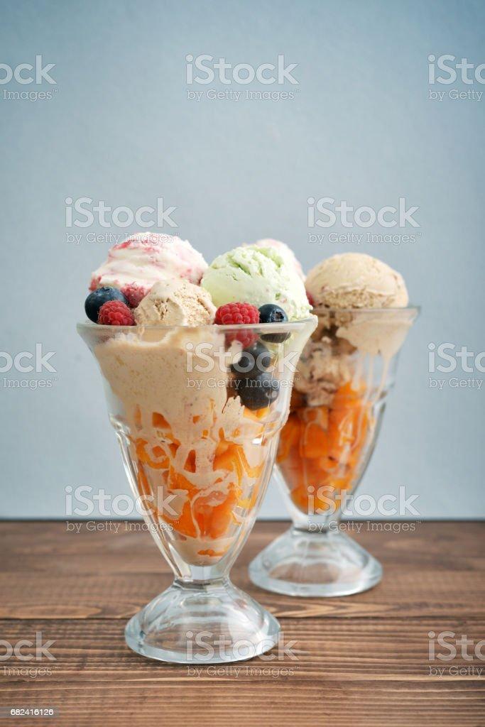 Ice cream in bowl royalty-free stock photo