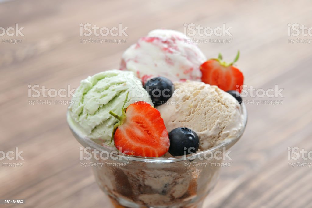 Ice cream in bowl royalty-free stock photo
