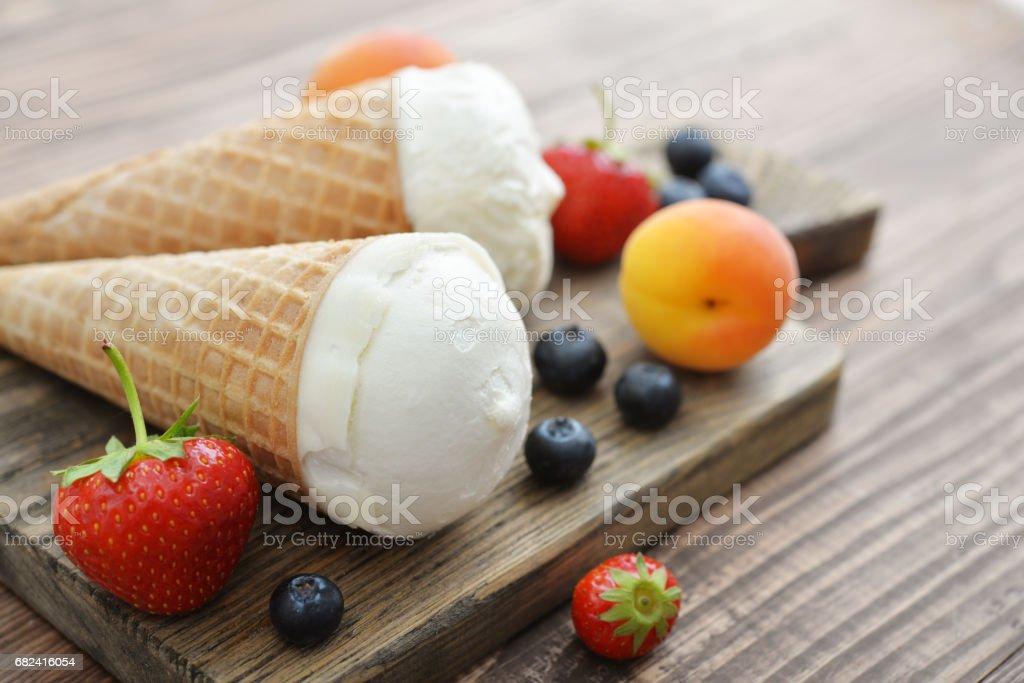 Ice cream in cones royalty-free stock photo