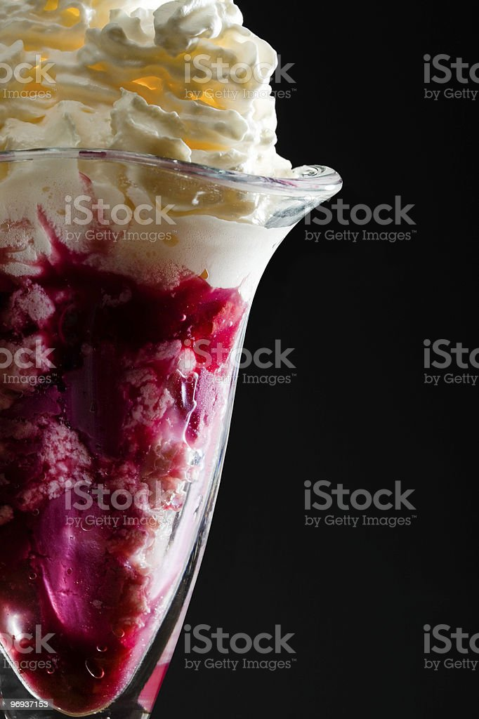 Ice cream in the glass royalty-free stock photo