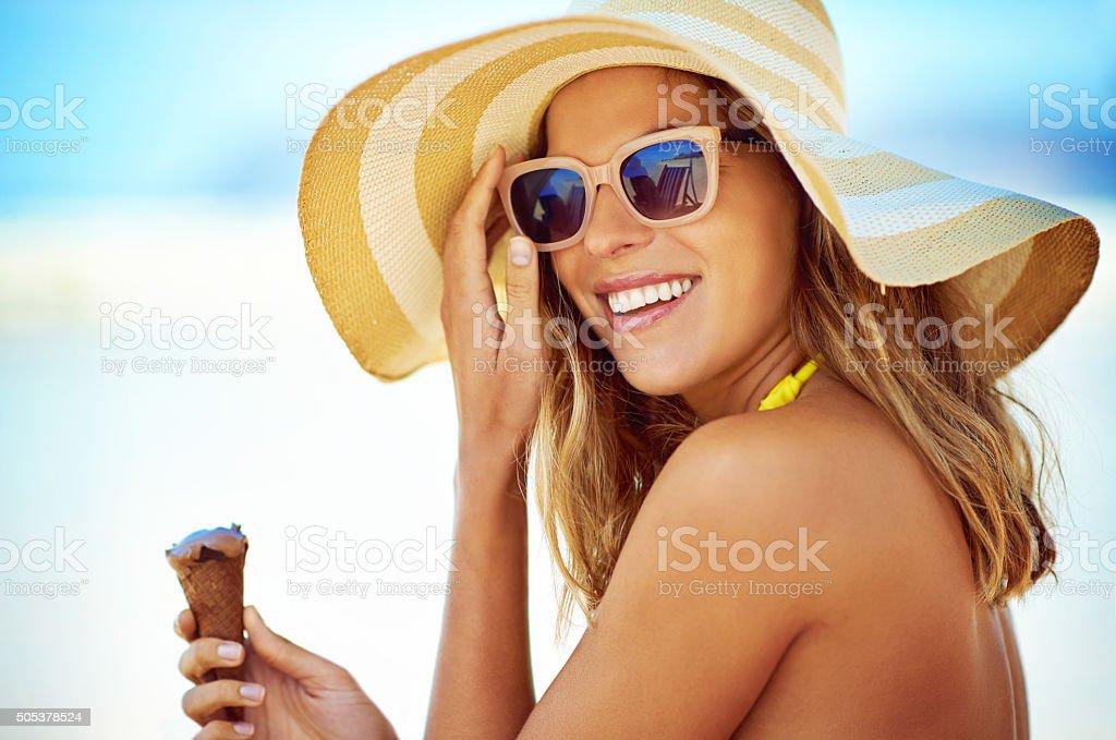 Ice cream is the perfect summer companion stock photo