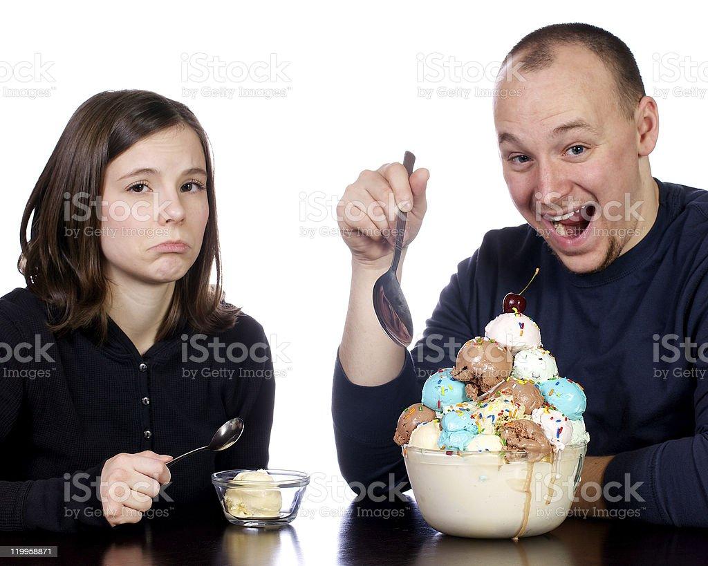 Ice Cream Joy and Sadness stock photo