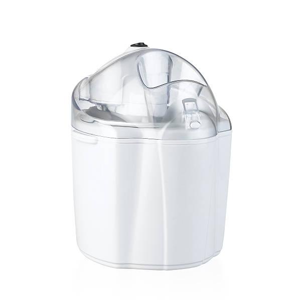 Ice cream maker machine isolated on white stock photo