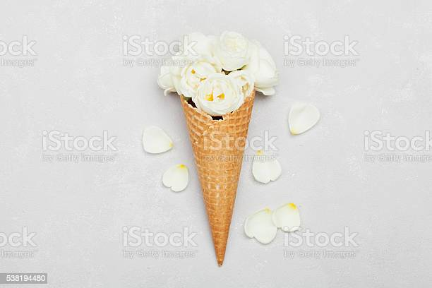 Ice cream of rose flowers in waffle cone floral decoration picture id538194480?b=1&k=6&m=538194480&s=612x612&h=5kec8vjflaa b7hyznitoilzuxjz4locrdcje2gkzbi=