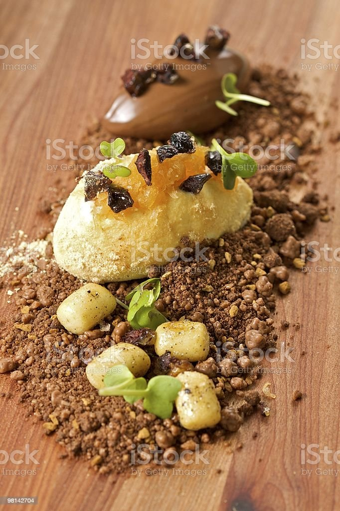 Ice Cream on Chocolate Dirt royalty-free stock photo