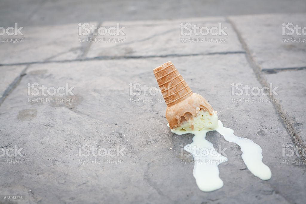 Image result for ice cream falling on ground