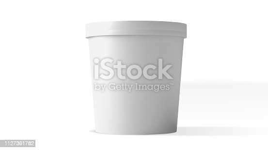 ice cream packaging mockup isolated