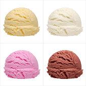 istock Ice cream scoops 500577600