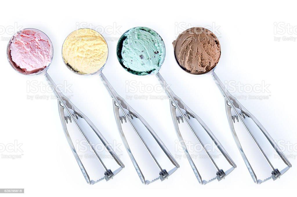 Ice cream scoops stock photo
