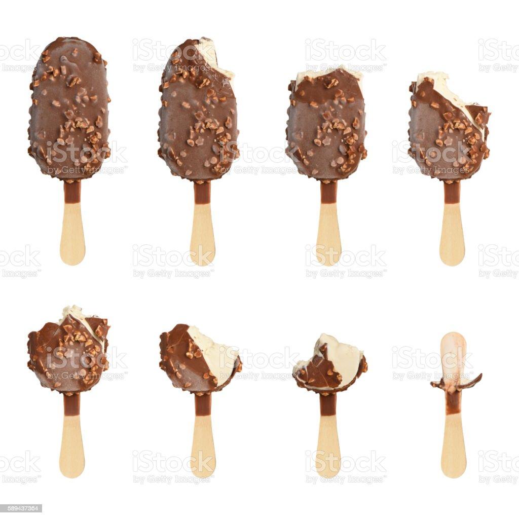 Ice cream set stock photo