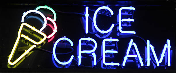 Ice Cream Sign stock photo