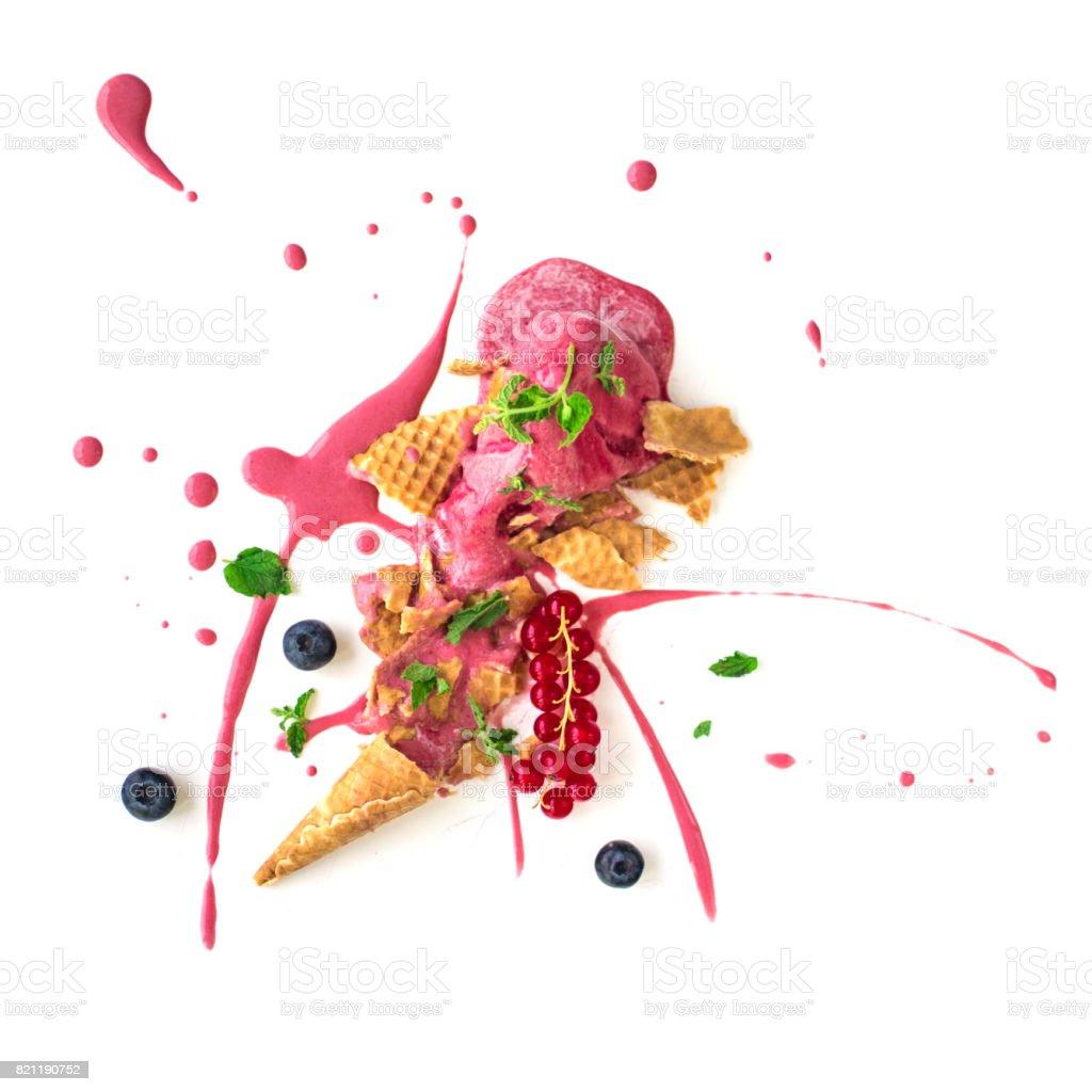 Ice Cream Spatter stock photo