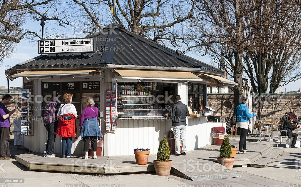 Ice Cream Stand in Stockholm - Sweden royalty-free stock photo