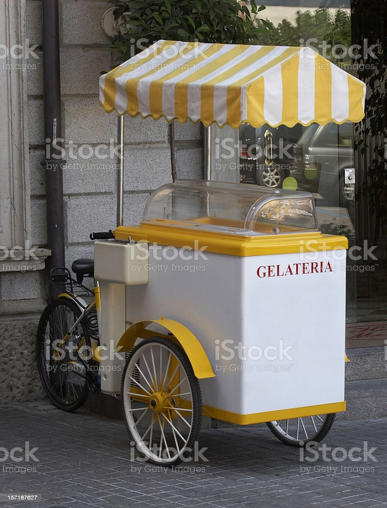 Ice cream tricycle royalty-free stock photo
