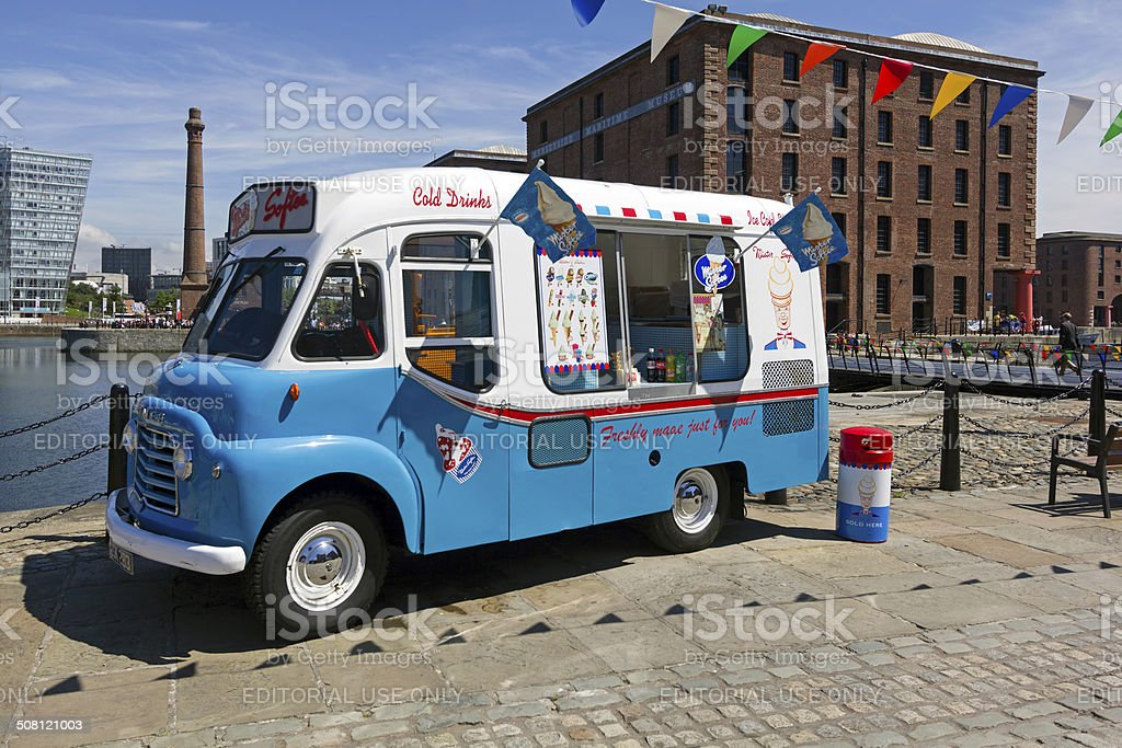 Ice Cream Van Albert Dock Liverpool stock photo