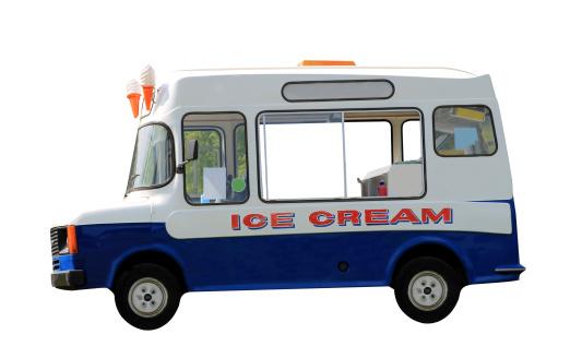Ice Cream Van Isolated Stock Photo - Download Image Now