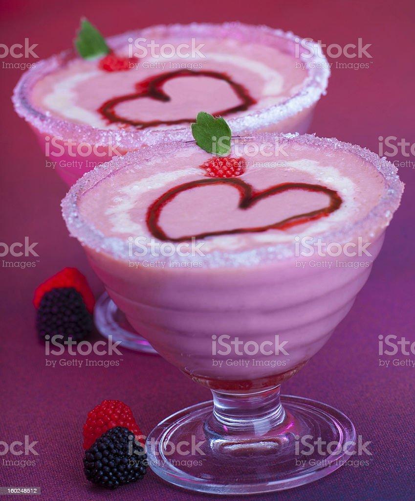 Ice cream with fruit royalty-free stock photo