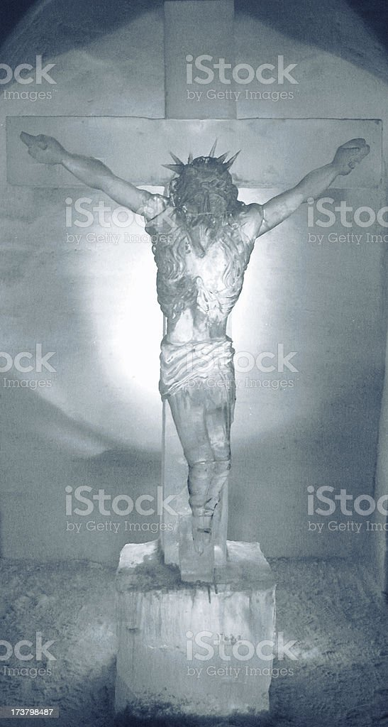Ice crucifix royalty-free stock photo