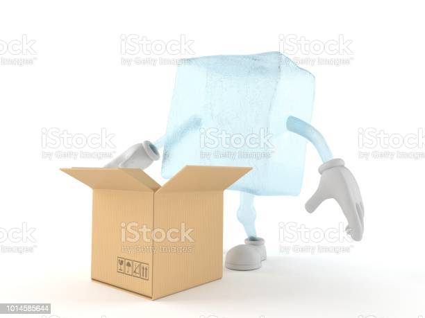 Ice cube character with open cardboard box picture id1014585644?b=1&k=6&m=1014585644&s=612x612&h=0ingdn py92wcla8ce4fzkmaxp o5g3wbhrh7e9jjpy=