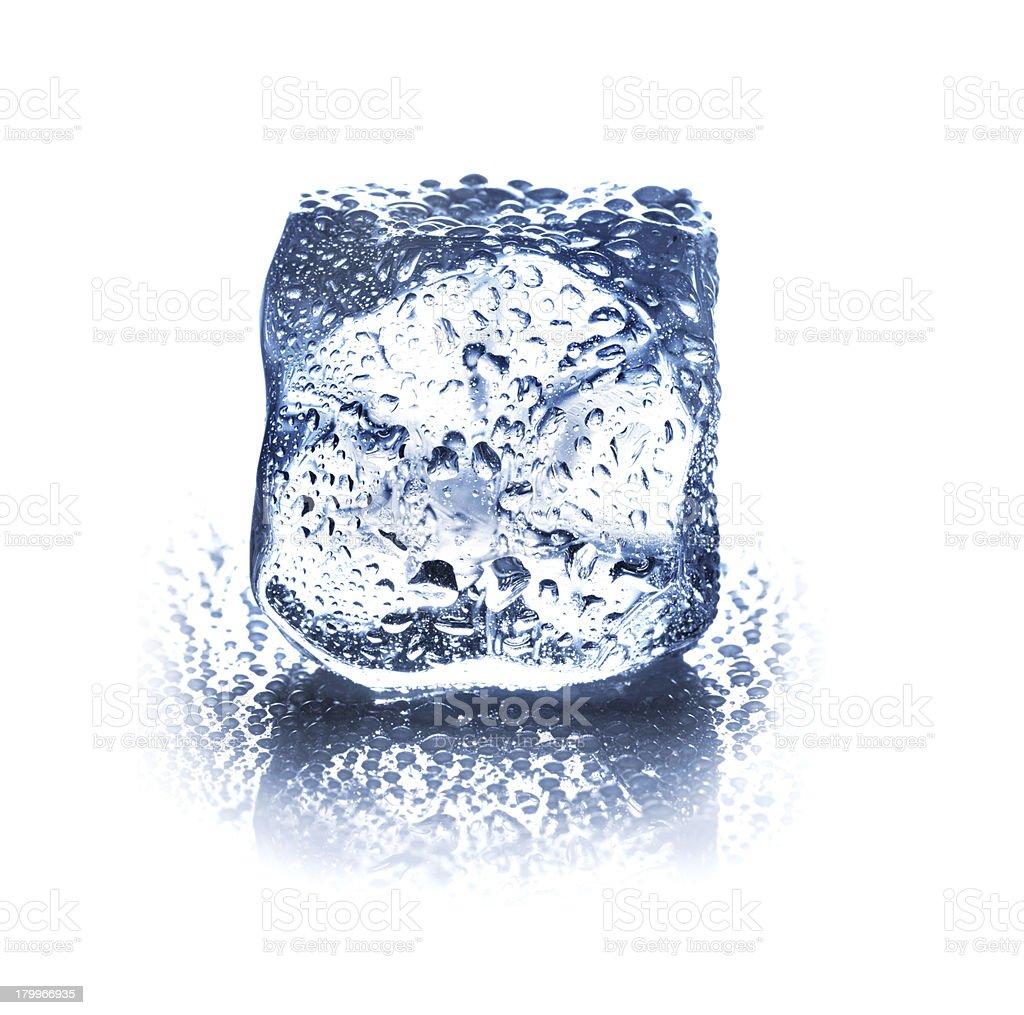 ice cube isolated on white background closeup royalty-free stock photo