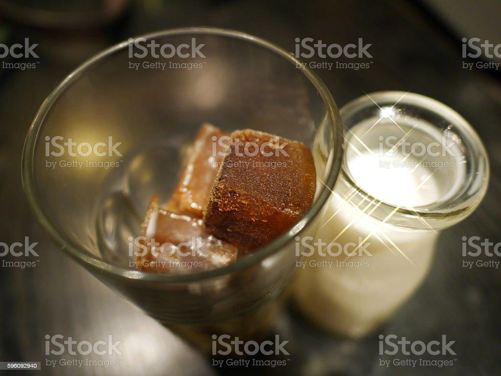 ice cube latte royalty-free stock photo