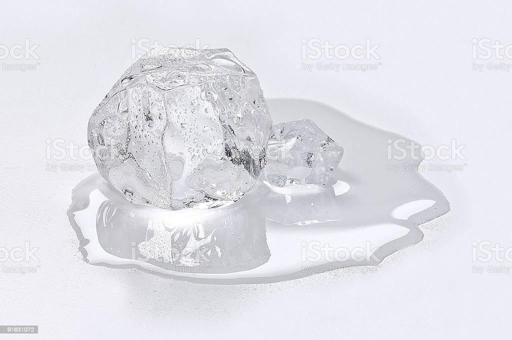 Ice Cube Melting stock photo