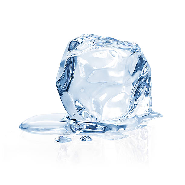 Ice cube Ice cube on white background melting stock pictures, royalty-free photos & images