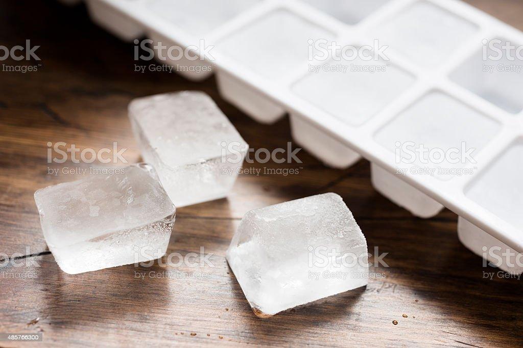 Ice cube tray stock photo