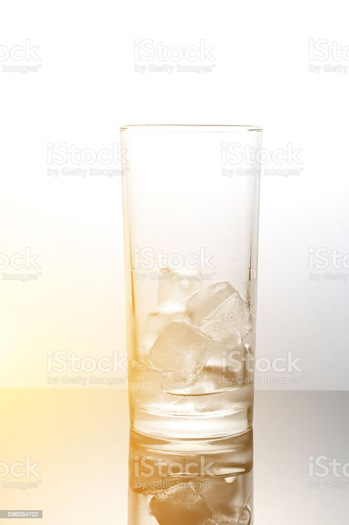 ice cubes in glass,concept melt and warming royalty-free stock photo