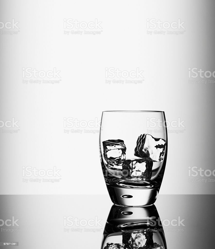 Ice cubes in highball glass royalty-free stock photo