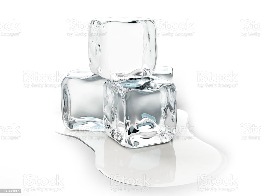 Ice cubes melting royalty-free stock photo