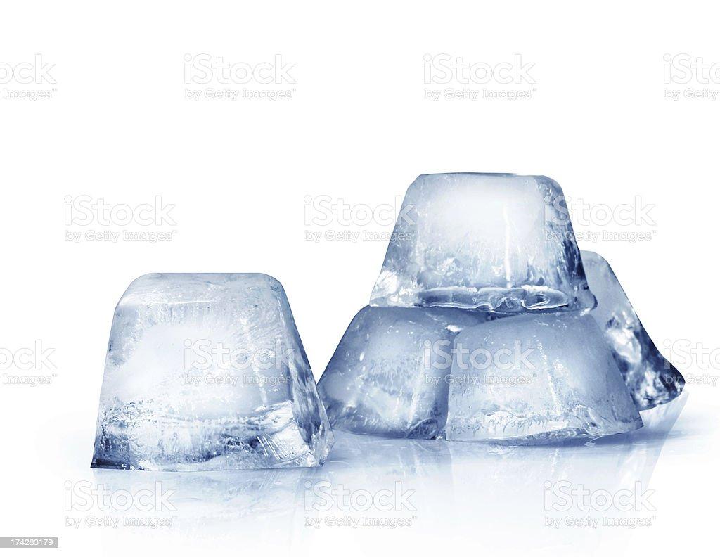ice cubes on white royalty-free stock photo